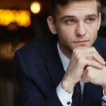Pensive man post lockdown anxiety